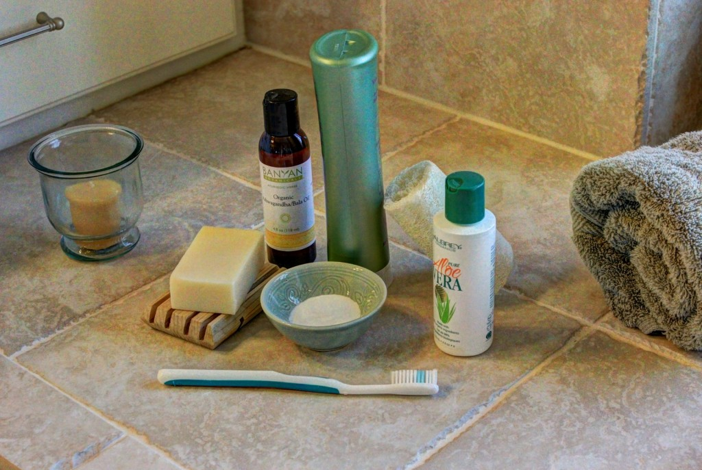 Natural resources for healthy bathroom