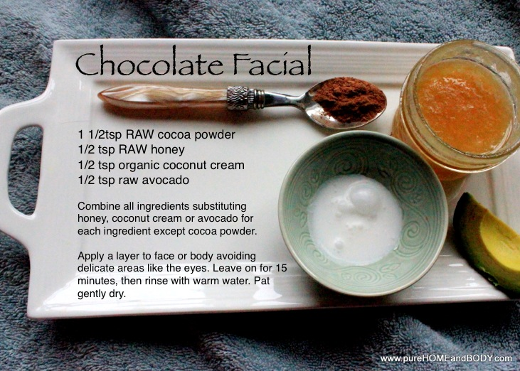 recipe chocolate facial
