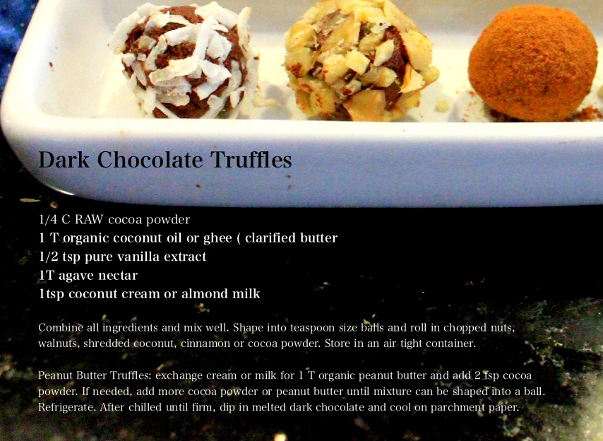 recipe dark chocolate truffles