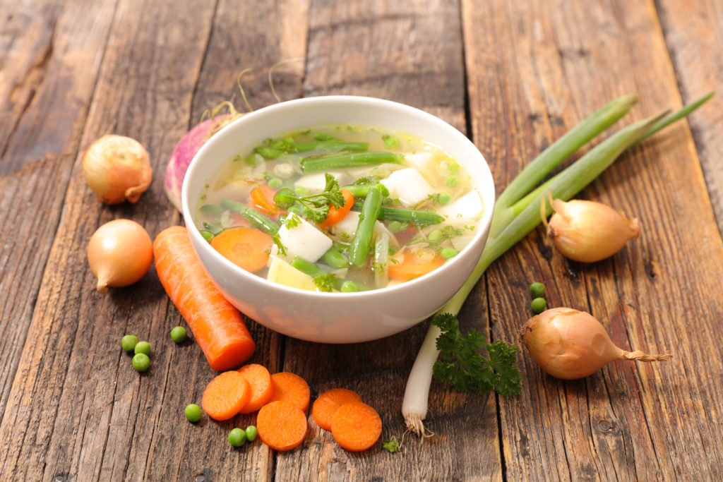 Organic vegetable soup to keep you healthy